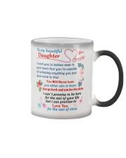 To My Beautiful Daughter Color Changing Mug tile