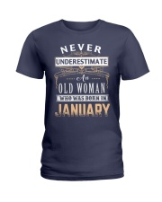OLD WOMAN - JANUARY Ladies T-Shirt tile
