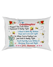 To my Granddaughter Hugged Nanny Rectangular Pillowcase front