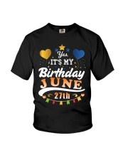 June 27th Birthday Gift T-Shirts Youth T-Shirt thumbnail