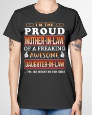 Proud Mother-In-Law  Daughter-In-Law Ladies T-Shirt garment-tshirt-ladies-front-01