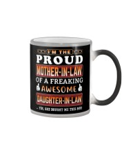 Proud Mother-In-Law  Daughter-In-Law Color Changing Mug tile