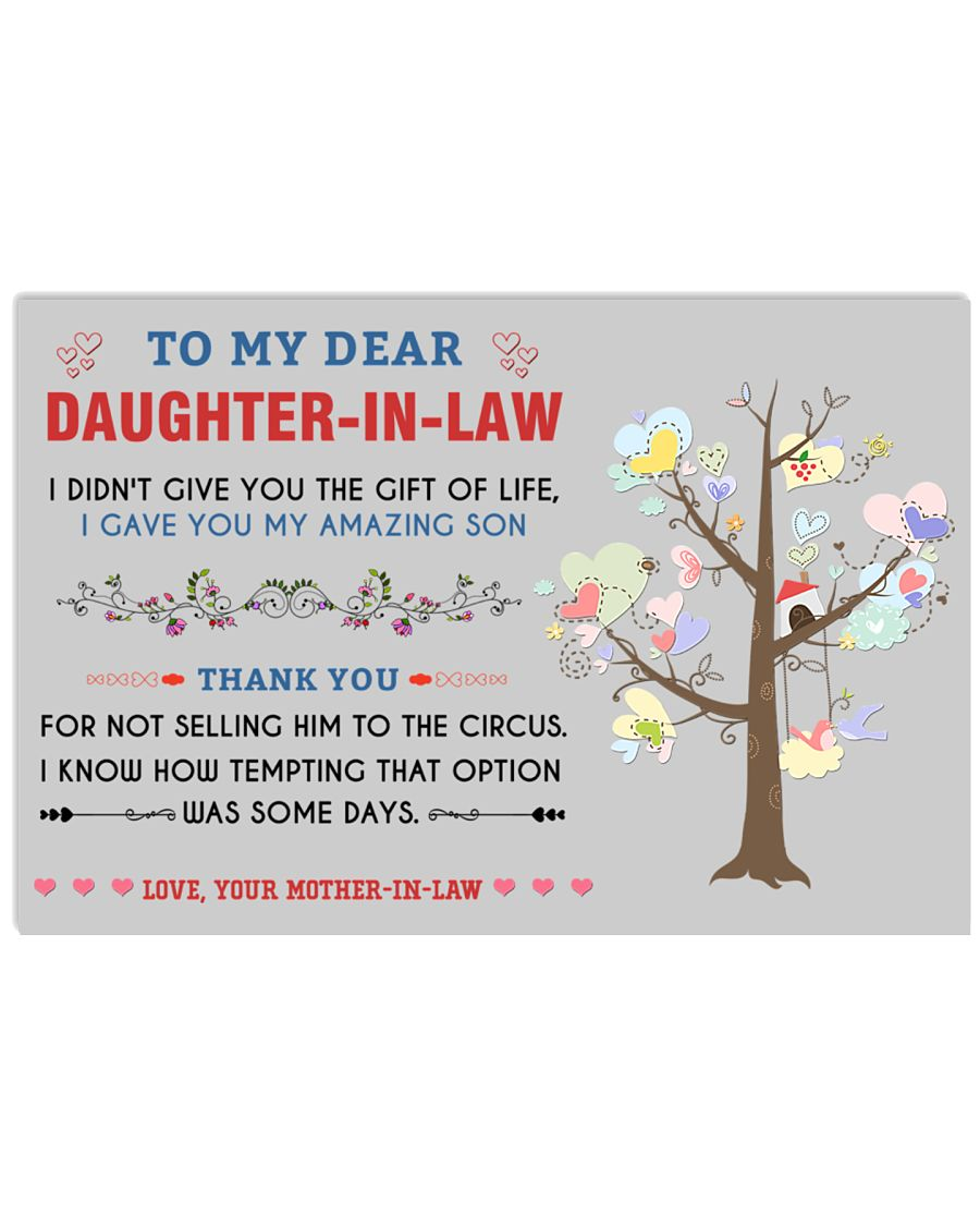 To My Daughter-In-Law 36x24 Poster