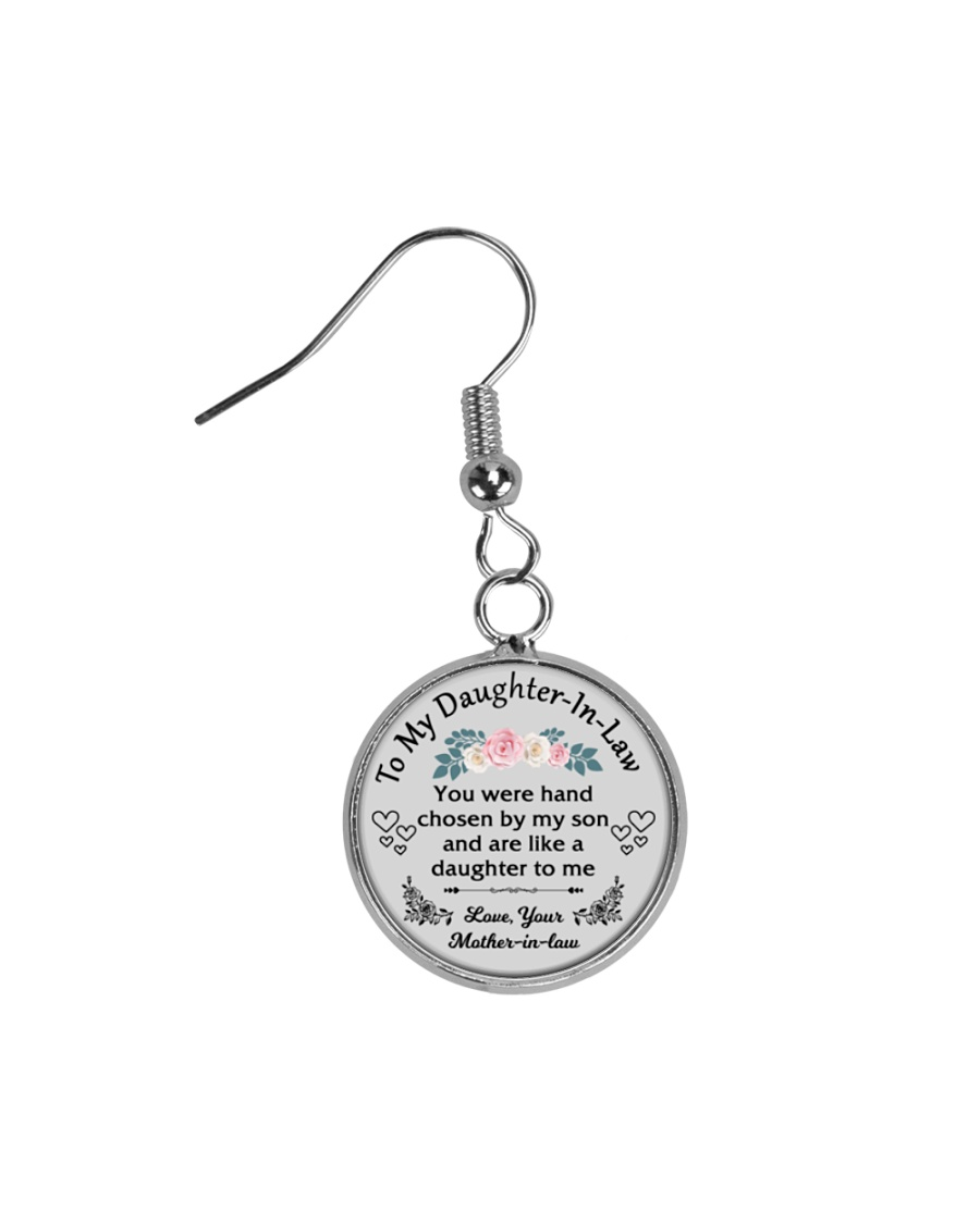 To My Daughter-In-Law Circle Earrings