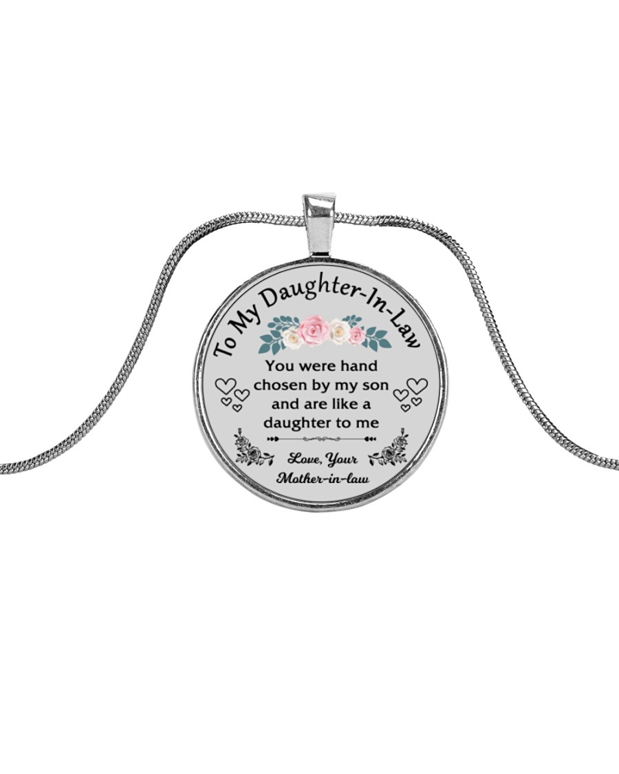 To My Daughter-In-Law Metallic Circle Necklace
