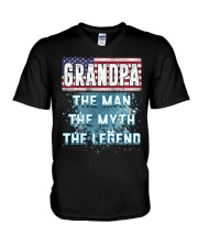 Grandpa Legend Fathers Day Independence Day V-Neck T-Shirt thumbnail