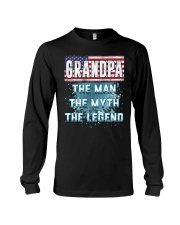 Grandpa Legend Fathers Day Independence Day Long Sleeve Tee thumbnail