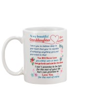 To My Granddaughter Mug back