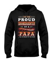 Proud Granddaughter-Papa Hooded Sweatshirt tile