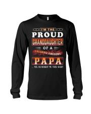 Proud Granddaughter-Papa Long Sleeve Tee tile
