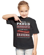 PROUD GRANDDAUGHTER GRANDMA Youth T-Shirt lifestyle-youth-tshirt-front-2