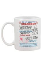 To My Beloved Grandson Mug back
