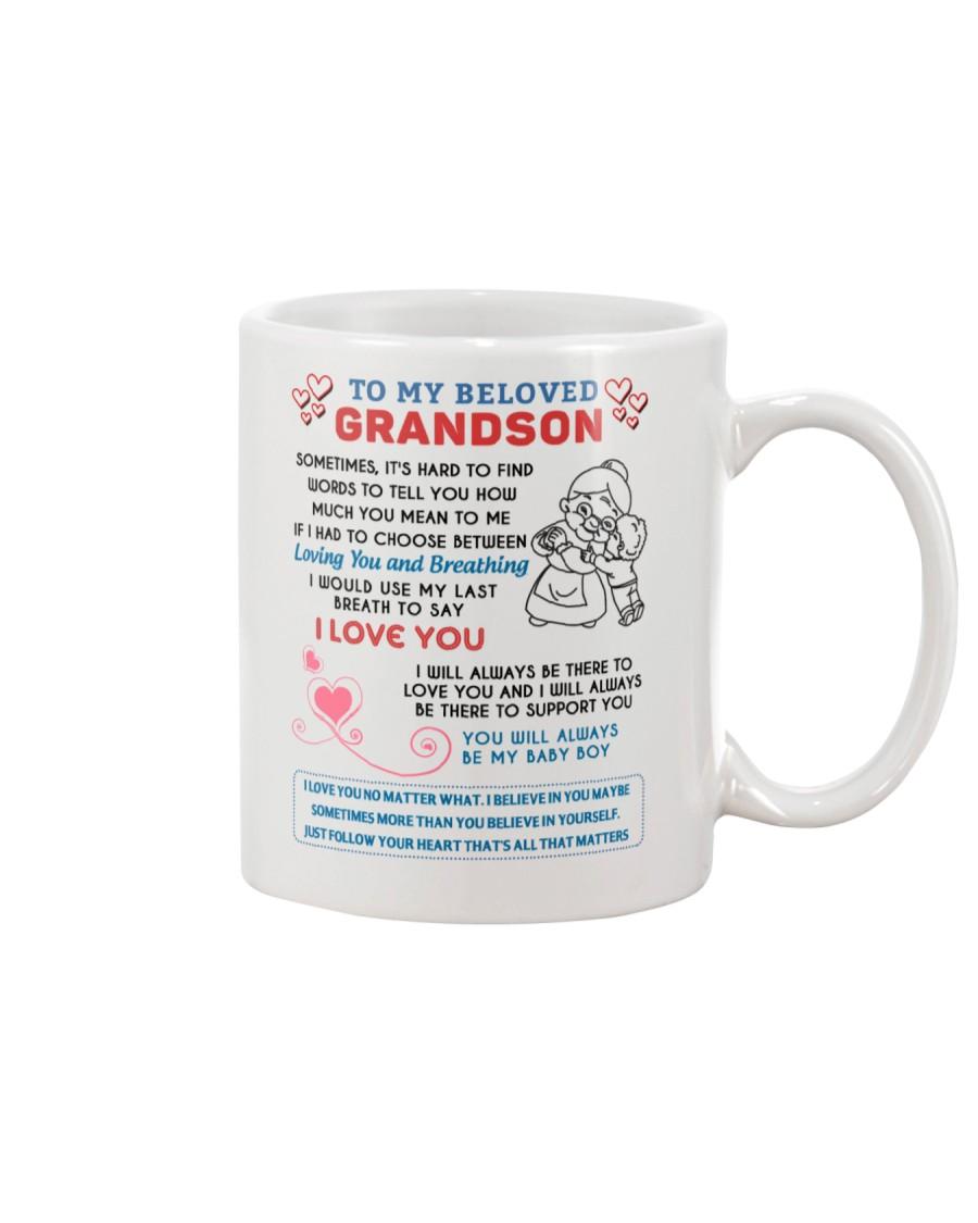 To My Beloved Grandson Mug