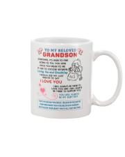 To My Beloved Grandson Mug front