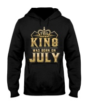 THE KING WAS BORN ON JULY Hooded Sweatshirt tile