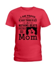 PROUD BEING A MOM Ladies T-Shirt front
