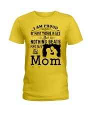 PROUD BEING A MOM Ladies T-Shirt tile