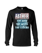 Father Legend Fathers Day Independence Day Long Sleeve Tee thumbnail