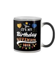 November 10th Birthday Gift T-Shirts Color Changing Mug thumbnail