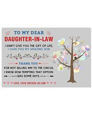 To My Daughter-In-Law 24x16 Poster front