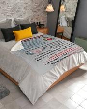 "To My Daughter-In-Law Sherpa Fleece Blanket - 50"" x 60"" aos-sherpa-fleece-blanket-lifestyle-front-02"