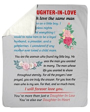 """To My Daughter-In-Law Sherpa Fleece Blanket - 50"""" x 60"""" front"""