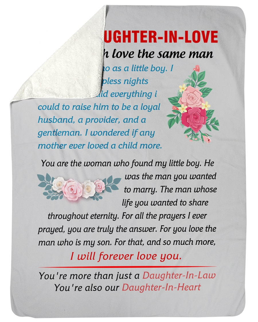 "To My Daughter-In-Law Large Sherpa Fleece Blanket - 60"" x 80"""