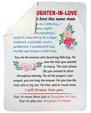 To My Daughter-In-Law Sherpa Fleece Blanket tile