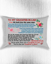 To My Daughter-In-Law Rectangular Pillowcase aos-pillow-rectangle-front-lifestyle-4