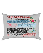 To My Daughter-In-Law Rectangular Pillowcase back