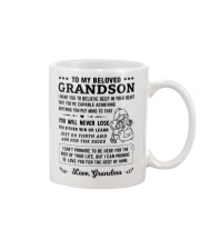 To My Grandson Mug front