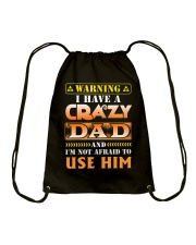 Warning Dad Drawstring Bag thumbnail