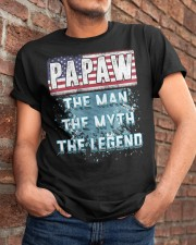 Papaw Legend Fathers Day Independence Day Classic T-Shirt apparel-classic-tshirt-lifestyle-26