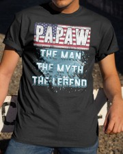 Papaw Legend Fathers Day Independence Day Classic T-Shirt apparel-classic-tshirt-lifestyle-28