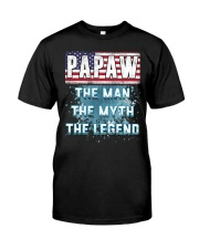 Papaw Legend Fathers Day Independence Day Classic T-Shirt front