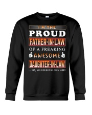 Proud FATHER-IN-LAW Awesome DAUGHTER-IN-LAW Crewneck Sweatshirt thumbnail