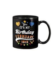 February 18th Birthday Gift T-Shirts Mug tile