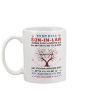To My Dear Son-In-Law Mug back