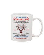 To My Dear Son-In-Law Mug front