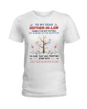 To My Dear Mother-In-Law Ladies T-Shirt thumbnail