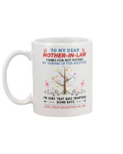 To My Dear Mother-In-Law Mug back