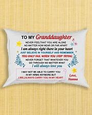 Nanna - To My Granddaughter Rectangular Pillowcase aos-pillow-rectangle-front-lifestyle-6