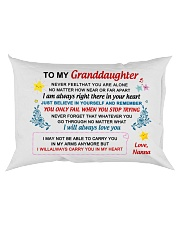 Nanna - To My Granddaughter Rectangular Pillowcase back