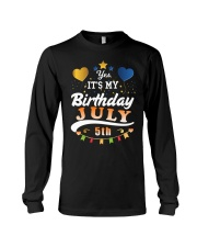 July 5th Birthday Gift T-Shirts Long Sleeve Tee tile