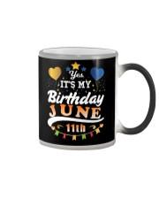June 11th Birthday Gift T-Shirts Color Changing Mug tile