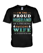 Im The Proud Husband - Wife V-Neck T-Shirt thumbnail