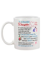 To My Beautiful Daughter Mug back