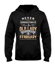 Old Lady February Hooded Sweatshirt thumbnail