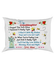 To my Granddaughter Hugged Mimi Rectangular Pillowcase front