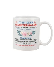 To My Dear Daughter-In-Law Mug front